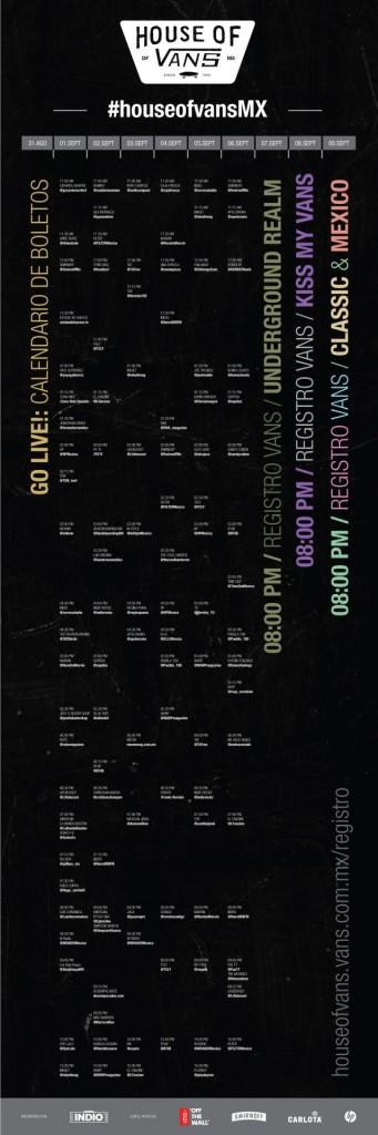 calendario Vans