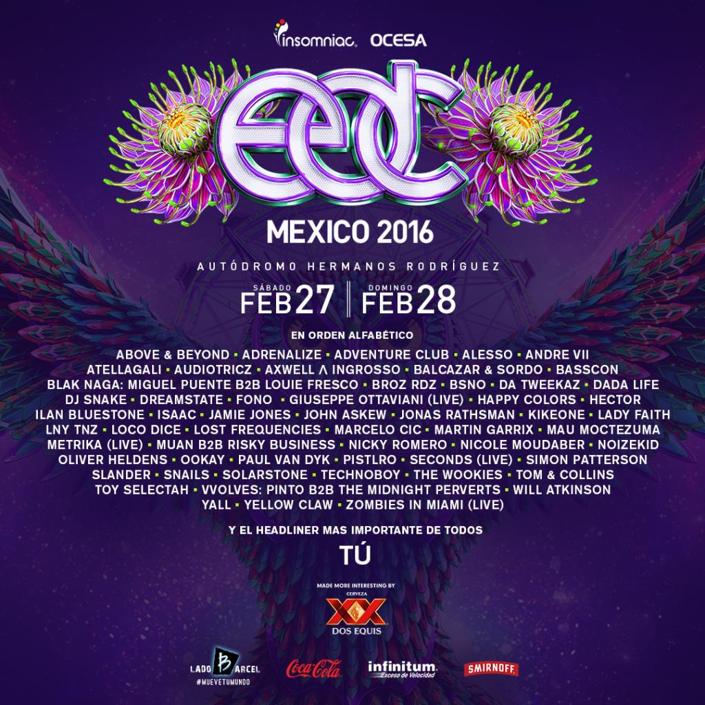 EDCMX Lineup
